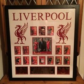 Liverpool FC Signed Futera Cards Millennium Edition Framed
