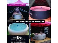 Luxury Hot Tub Hire - The Highest Standard About! Gazebo, Soundsystem, Lighting, Floor etc.