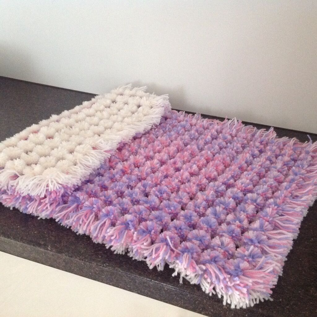 Pom Poms Blanket Made On A Loom In Wath Upon Dearne