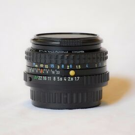 SMC Pentax A 50mm f1.7 Manual Lens. Great condition.