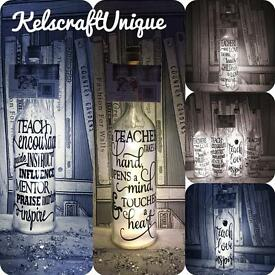 Teacher thank you gifts LED bottle