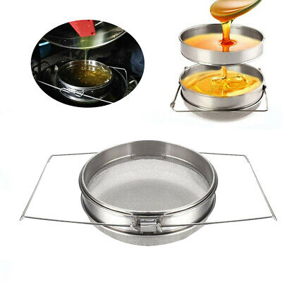 New Honey Strainer Double Sieve Stainless Steel Beekeeping Equipment.