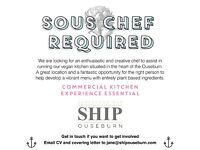 Sous Chef Wanted - We are expanding our food operation in the Ouseburn and need more hands on deck.