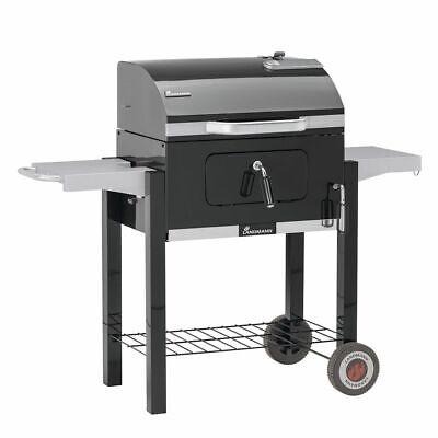Landmann Barbacoa de Carbón Wagon Dorado 56x42cm Negra Parrilla BBQ Asador 31401