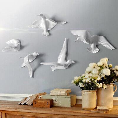 Skulpturen Home Decor (5 Stücke Moderne 3D Harz Seagull Wandskulpturen Home Decor Hängende Decor)