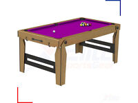 BCE 6ft pool table cues, triangle, chalk&balls - rolling lay flat folding