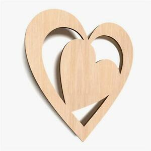 wooden hearts for crafts 10x wooden shape diagonal hearts plain tags blank 5772
