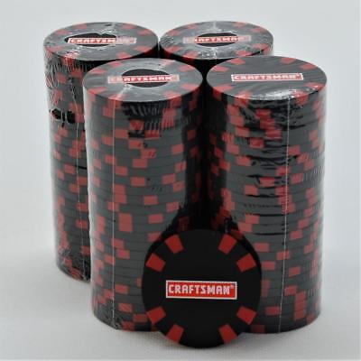 RARE BLACK Sears CRAFTSMAN Poker Chip set of 100 Heavy Clay Composite -