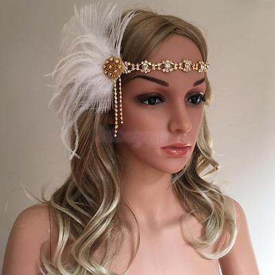Fashion Feather Vintage Headpiece 1920s Great Gatsby Flapper Headbands