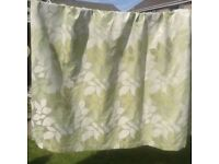 Lounge curtains, Green leaf pattern