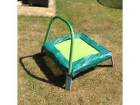 Children's junior trampoline with handle