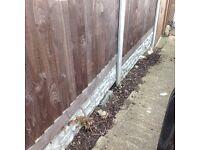 Outdoor garden fence, posts, slabs and door bundle