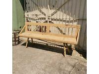1900s Primitive Antique Garden Bench With Details Farmhouse Seating