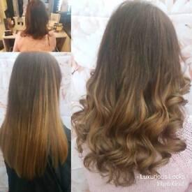 Quality hair extensions by Luxurious Locks 100% human hair
