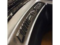 "18"" Genuine Mercedes AMG C63 Alloy Wheels w/ Brand New Tyres"
