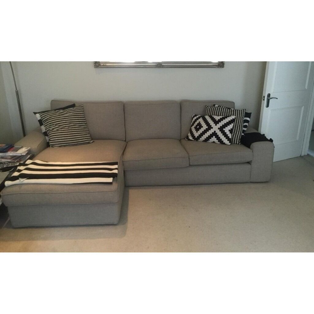 IKEA Kivik Corner Sofa With Chaise Lounge In Grey in South