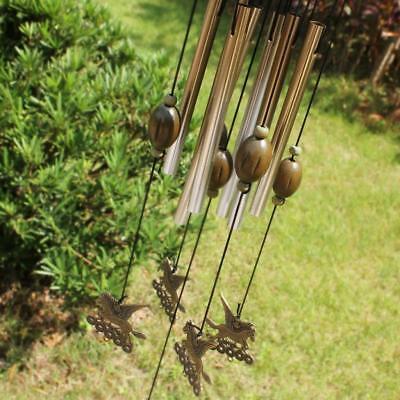 (Horses Windchimes Wind Chime Metal 8 Tube Hanging Ornament Garden Home Decor)
