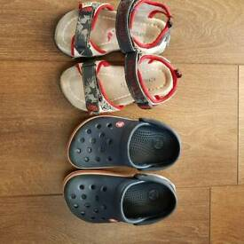 Boys crocs and sandals