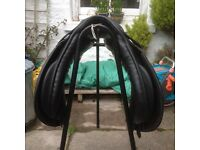 17inch black General Purpose leather saddle