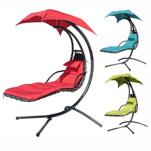 265 Lbs Chaise Lounger Chair Arc Stand Swing Hammock Chair W