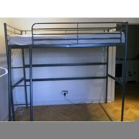 IKEA 'SVARTA' Loft Bed Frame in Silver