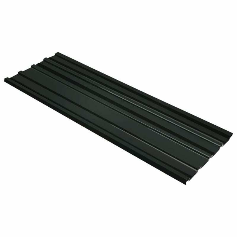 Roof Panels 12 pcs Galvanised Steel Anthracite