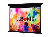 "Duronic MPS70 Manual Pull Down Projector Screen 99"" ( 178cm(w) X 178cm(h))"