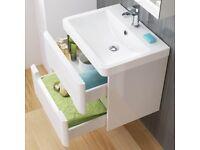 Bathroom sink/basin wall hung 600mm