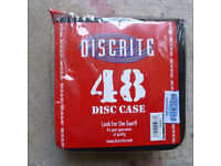 QUALITY DISCRITE CD/DVD CASE, CARRIER, TAKES 48 DISCS, X 30, CAR BOOTERS