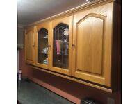 Kitchen wall mounted oak unit