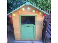 Children's wooden play house