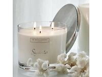 The White company large 3 wick candle - Seychelles with lid