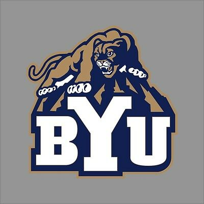 Brigham Young Cougars NCAA College Vinyl Sticker Decal Car Window Wall - Brigham Young Cougars Car