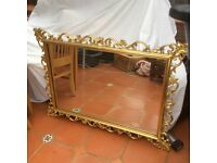 Gold gilt ornate mirror. 109 x79 cm. Excellent condition. Collection only