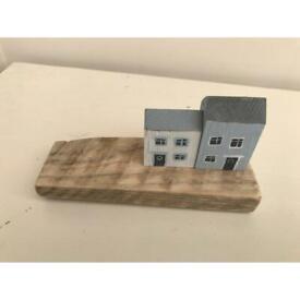 Beach house reclaimed wood accessory