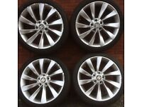vw 18 Scirocco alloy wheels tyres Audi A4 A3 vw Golf Passat Caddy Jetta Seat Leon Skoda alloys 19 17