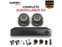 HD 4CH DVR with 2 x 1080p CCTV VARIFOCAL Dome Cameras 2.8-12mm Mobile Viewing