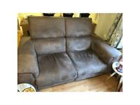 2x 2 seater sofa couches 1 set an electric lazy boy