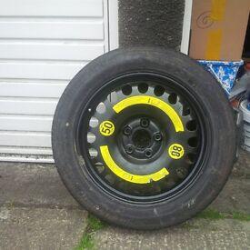 Mercedes W211 spare wheel