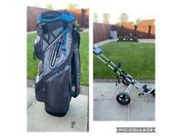 Big Max Terra-9 Golf Bag and Powakaddy Golf Trolley