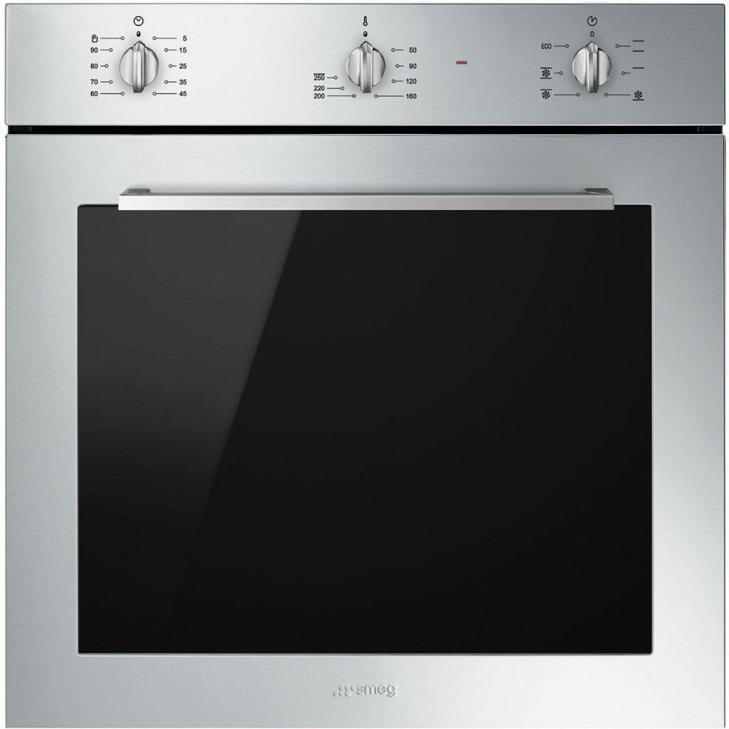 Smeg Cucina SF64M3TVS Built In Electric Single Oven - Silver Glass ...
