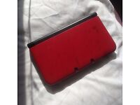 Nintendo 3DS XL red with Pokemon Omega Ruby etc