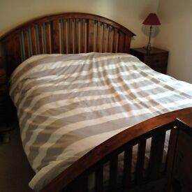 Antique Pine King Size Bed