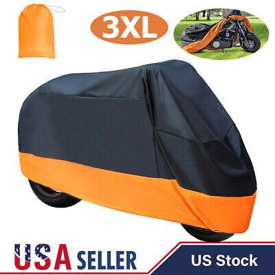 Motorcycle Cover Waterproof Heavy Duty For Winter Outside Storage XXXL Snow Rain