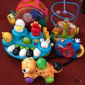 Baby toys including shape sorter