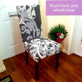 4 Brand New removable dinning chair covers black