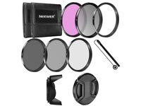 52MM Camera Lens Filter Accessory Kit: 52MM Filters(UV/CPL/FLD/ND2/ND4/