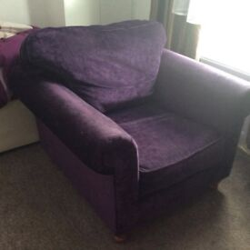 Purple armchair free
