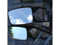 Extension mirrors for car.s towing caravans