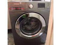 [Ex-Display, New] Samsung Silver Washing Machine 8 kg (A+++ Ecobubble WF80F5E2W4X )